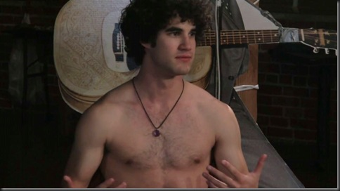 darren criss shirtless group