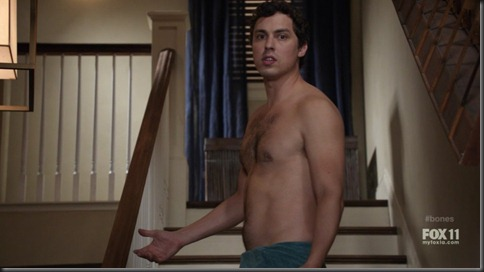 John Francis Daley shirtless bones