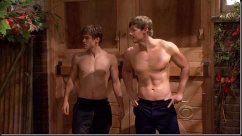brandon w. jones jack depew shirtless 2 broke girls