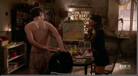 chris colfer shirtless glee
